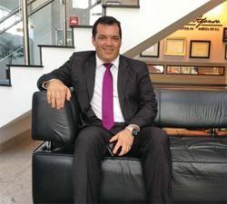 Roberto Roberti in lobby of Brazil Media Center
